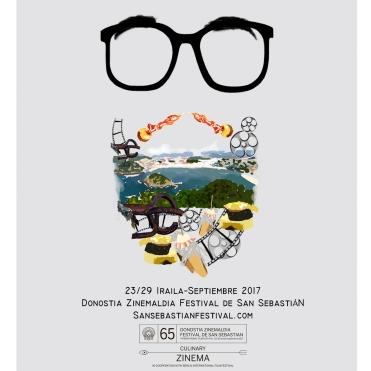 Affiche, réalisée pour un concours. Pour le festival de San Sebastian