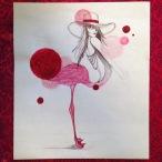 Technique: Acrylique, stylo et papier. Taille: A4 21x29'7 cm 90g