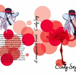 """Couverture du roman. """"L'arnaqueuse de l'ouest"""" écrit par Cindy Sey. - Maquettage de la couverture. - Réalisation du dessin de la couverture."""