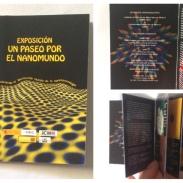 """Catalogue pour une exposition de sciences """"un paseo por el nanomundo"""", nanotechnologie. - Réalisation de la maquette. - Choix de la police."""